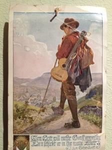 Österreichischer Gitarrist um 1900